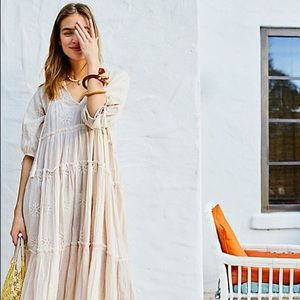 Free People celestial skies boho midi hippie dress